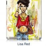 Studio of mode Lisa Red Ipad Skin