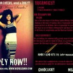 Wana Sambo Vacancy Flier