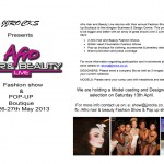 afro hair and beauty fashion show e-flyer